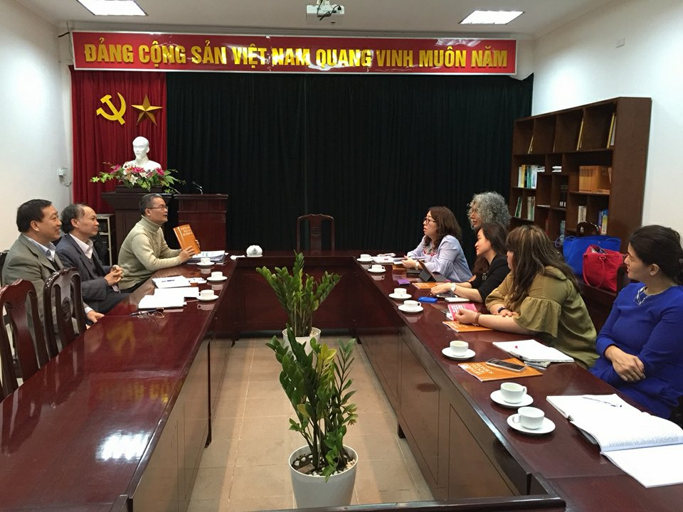 Hình ảnh: Lãnh đạo Tạp chí Khoa học xã hội Việt Nam tiếp và làm việc với lãnh đạo Tập đoàn xuất bản SAGE số 1