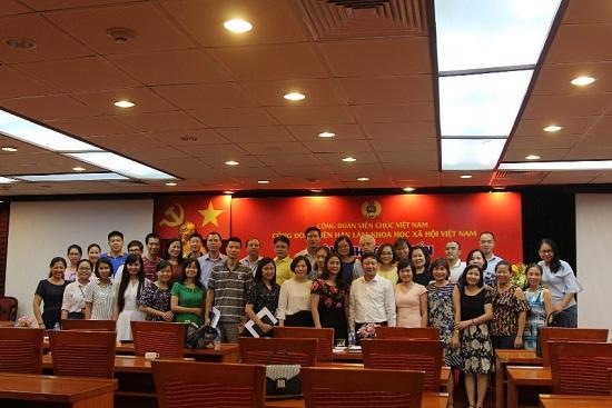 Hình ảnh: Hội nghị tập huấn nghiệp vụ công tác công đoàn Viện Hàn lâm Khoa học xã hội Việt Nam năm 2018 số 2