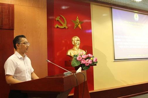 Hình ảnh: Hội nghị sơ kết công tác 6 tháng đầu năm, triển khai nhiệm vụ 6 tháng cuối năm 2018 của Công đoàn Viện Hàn lâm Khoa học xã hội Việt Nam số 1