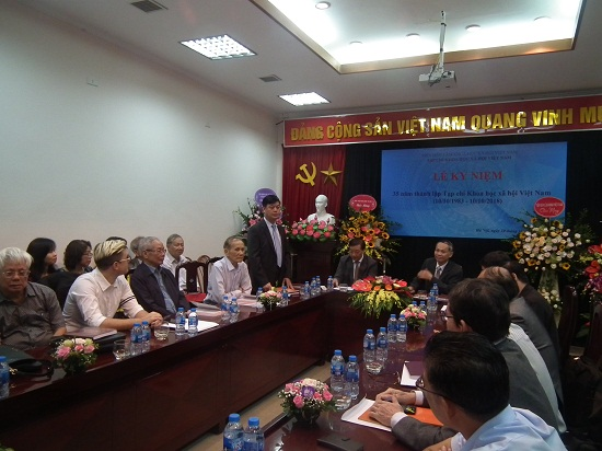 Hình ảnh: Tạp chí Khoa học xã hội Việt Nam kỷ niệm 35 năm thành lập (10/10/1983-10/10/2018) số 1