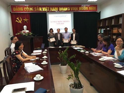 Hình ảnh: Tạp chí Khoa học xã hội Việt Nam tổ chức Lễ phát động thi đua năm 2018 số 1