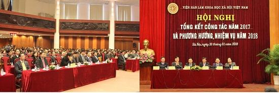 Hình ảnh: Hội nghị Tổng kết công tác năm 2017 và triển khai nhiệm vụ năm 2018 của Viện Hàn lâm Khoa học xã hội Việt Nam số 3