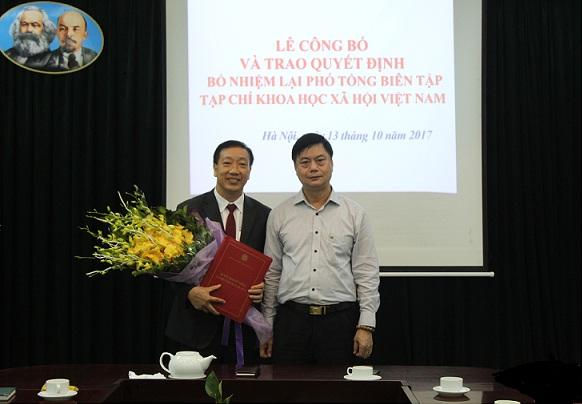 Lễ Công bố và trao Quyết định bổ nhiệm lại Phó Tổng Biên tập Tạp chí Khoa học xã hội Việt Nam