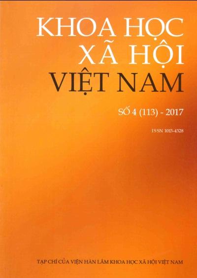 Khoa học xã hội Việt Nam. Số 4 - 2017
