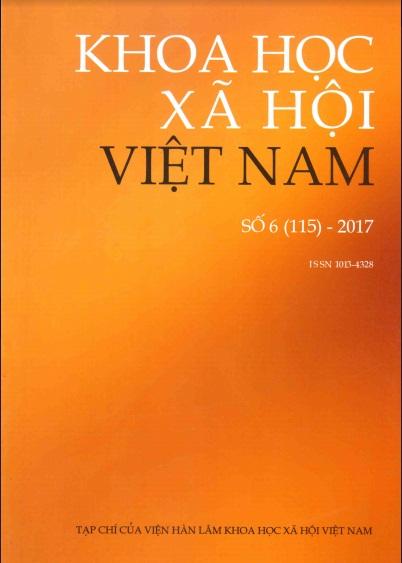 Khoa học xã hội Việt Nam. Số 6 - 2017