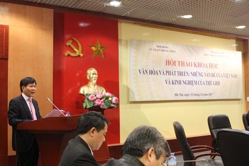 """Hội thảo khoa học """"Văn hóa và phát triển: Những vấn đề của Việt Nam và kinh nghiệm của thế giới"""""""