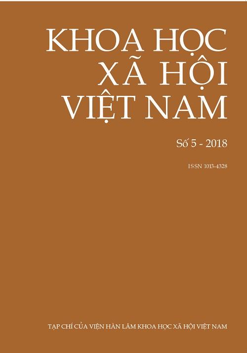Khoa học xã hội Việt Nam. Số 5 - 2018