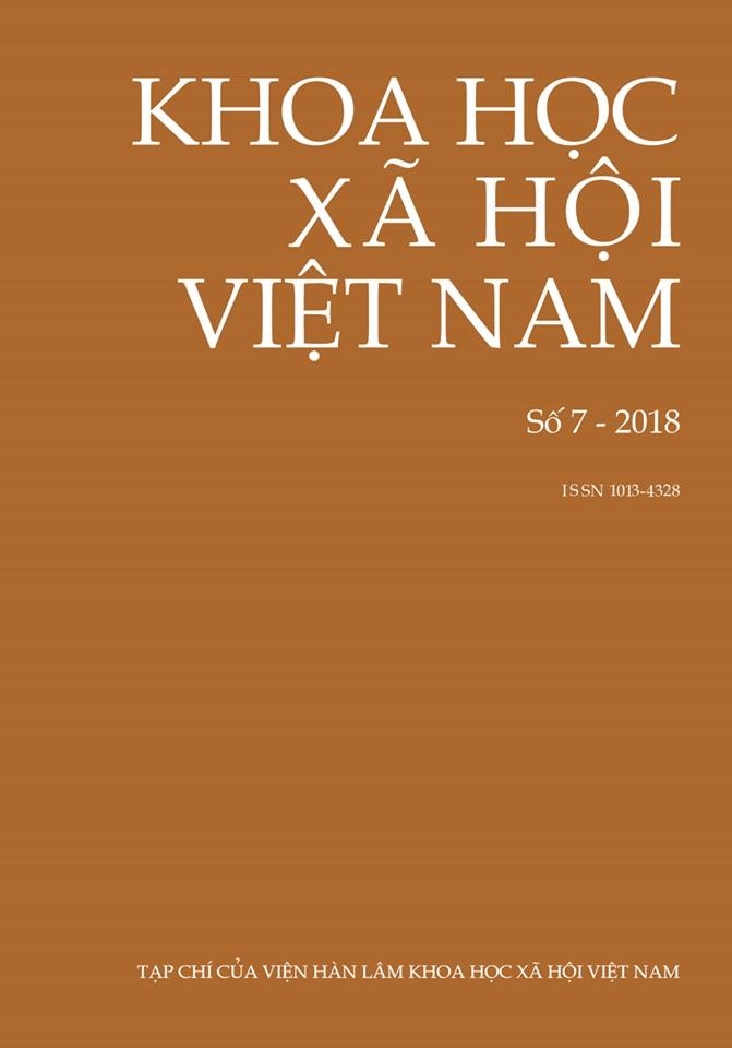 Khoa học xã hội Việt Nam. Số 7 - 2018