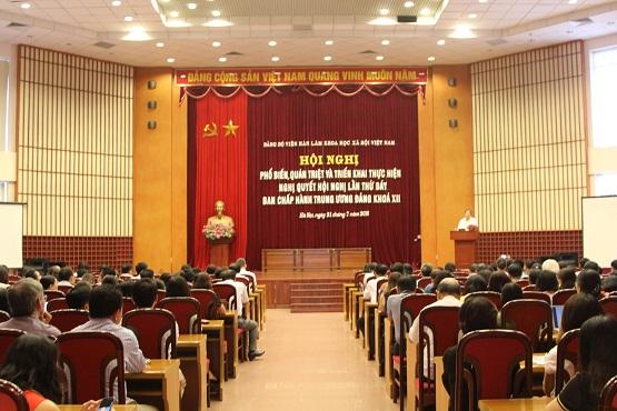 Hội nghị phổ biến, quán triệt và triển khai thực hiện Nghị quyết Hội nghị lần thứ bảy Ban chấp hành Trung ương Đảng khóa XII