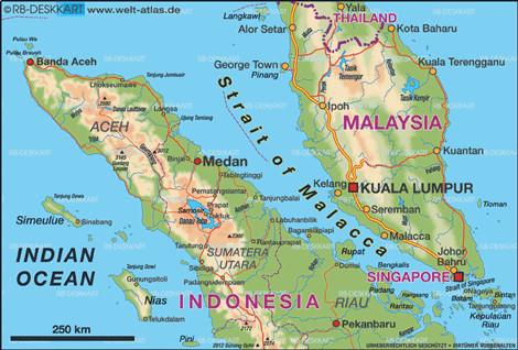 Eo biển Malacca trên tuyến thương mại Biển Đông