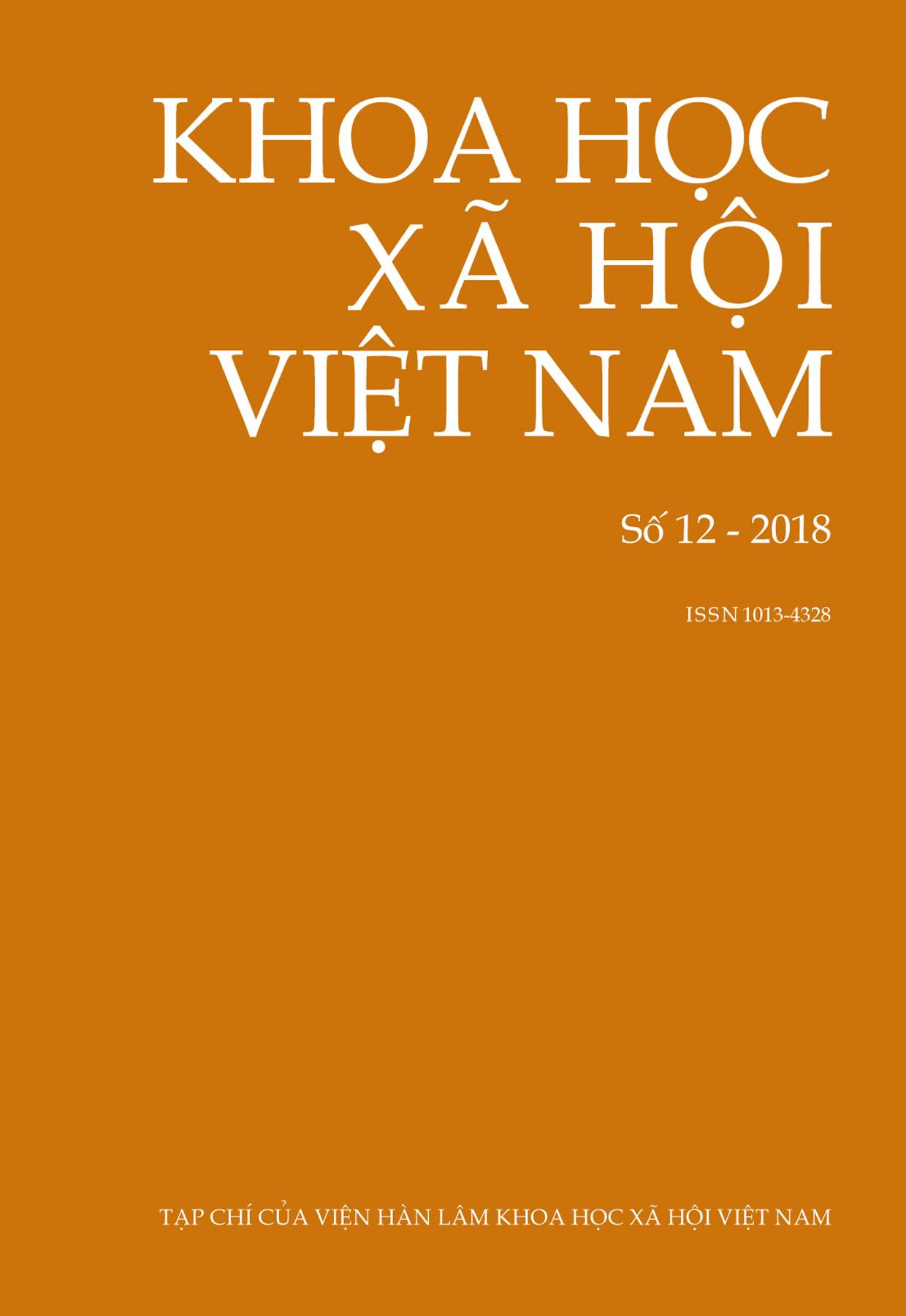 Khoa học xã hội Việt Nam. Số 12 - 2018