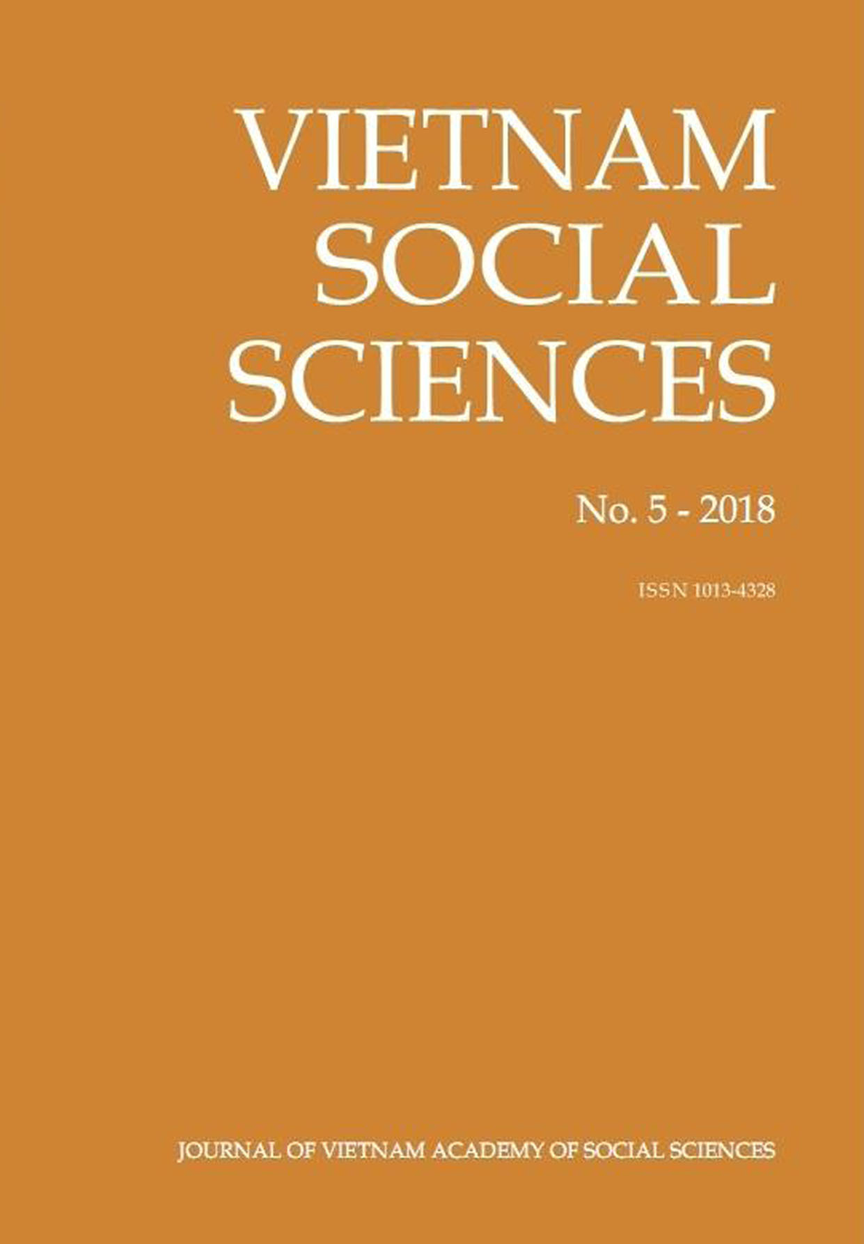 Vietnam Social Sciences. No. 5 - 2018