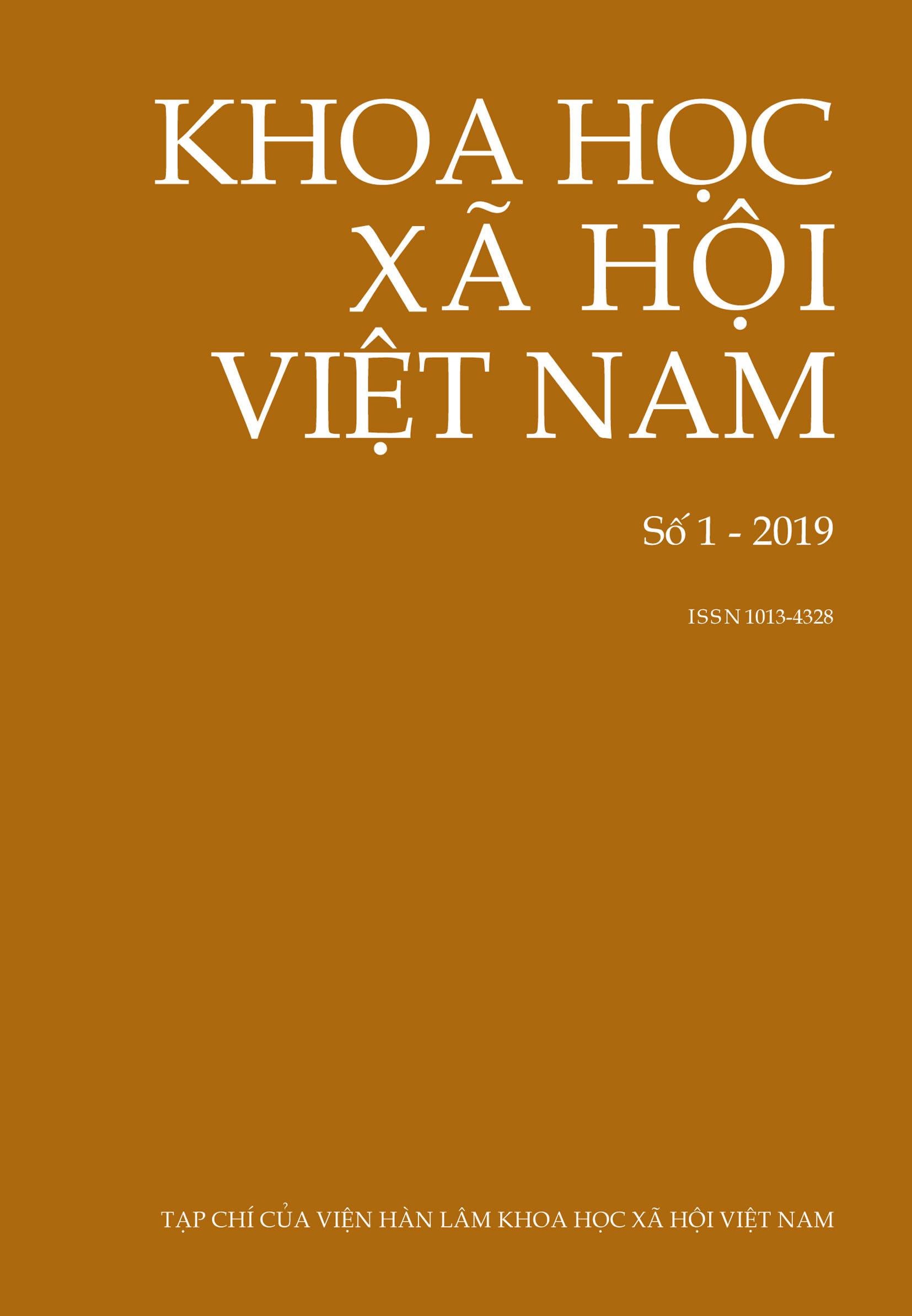 Khoa học xã hội Việt Nam. Số 1 - 2019