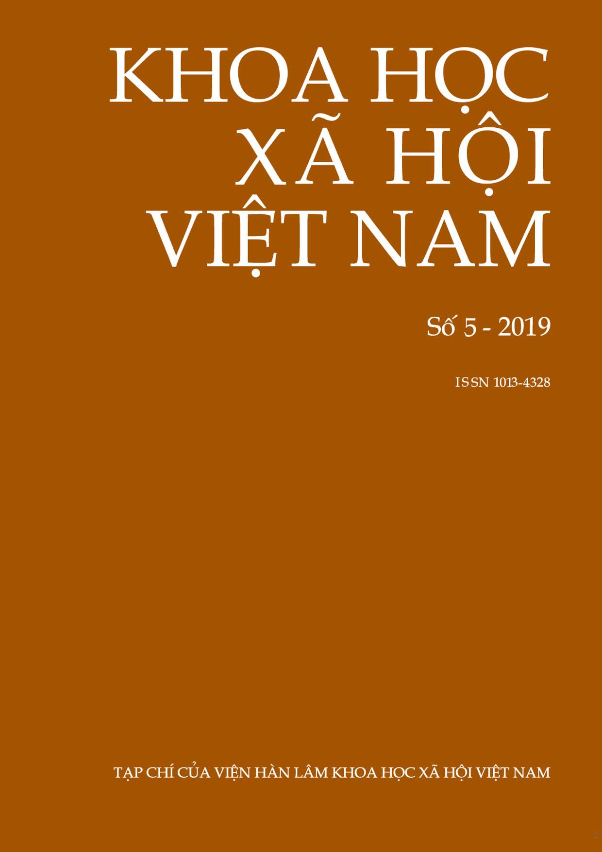 Khoa học xã hội Việt Nam. Số 5 - 2019