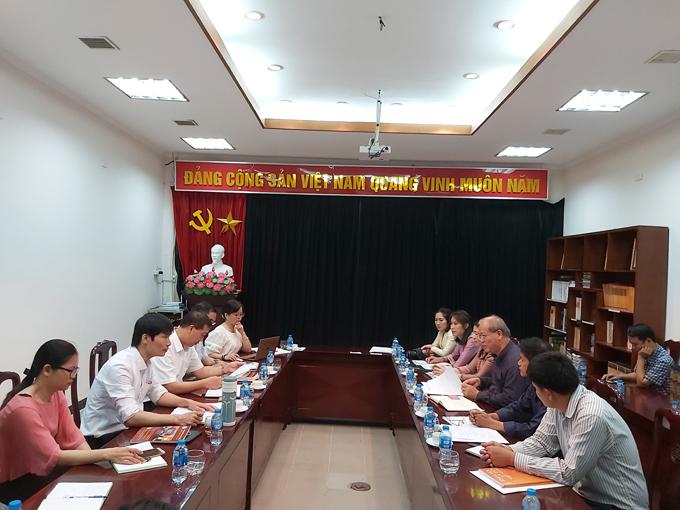 Tạp chí Khoa học xã hội Việt Nam tiếp và làm việc với đoàn công tác của Viện Thông tin Khoa học xã hội Lào
