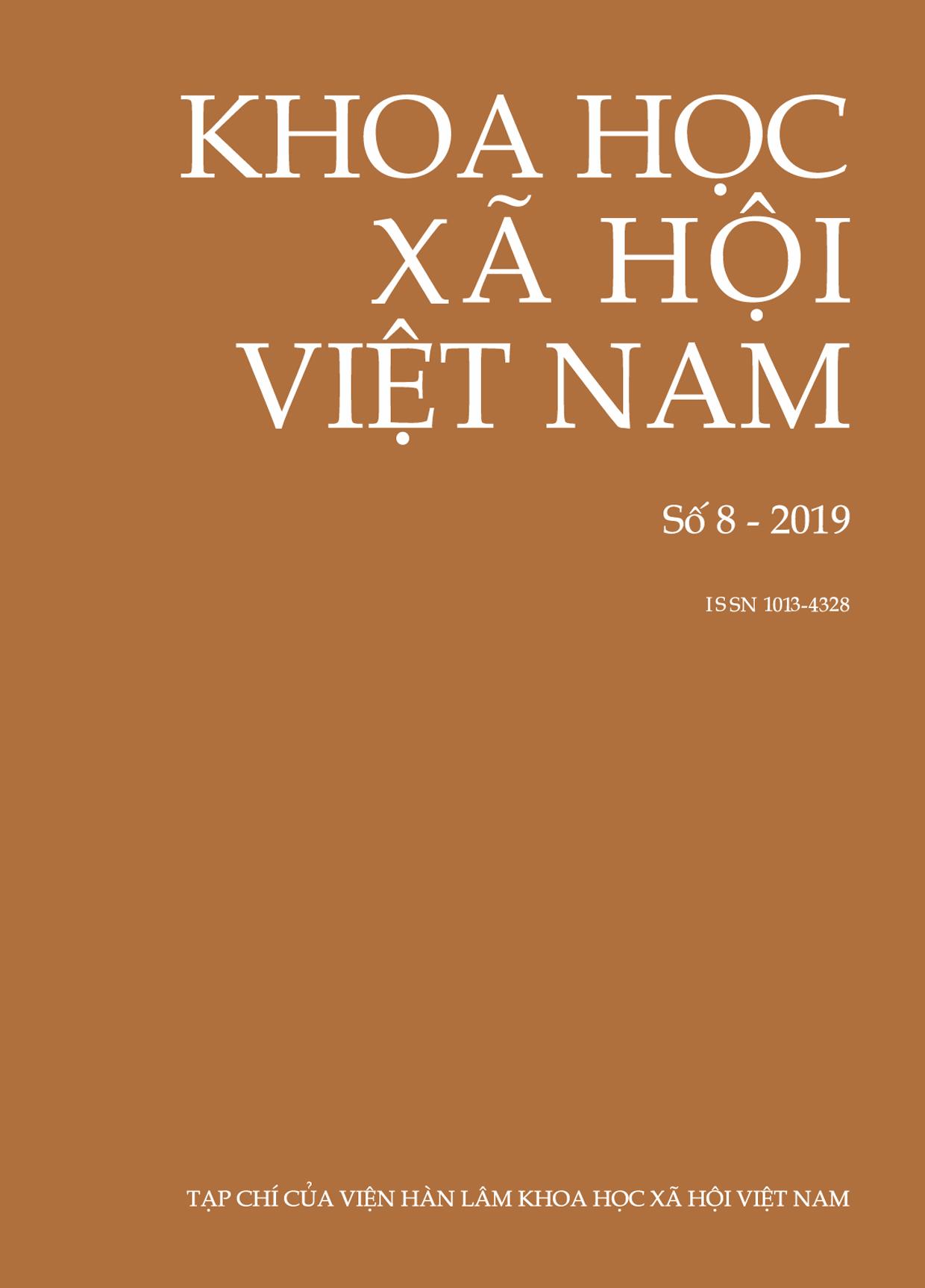 Khoa học xã hội Việt Nam. Số 8 - 2019