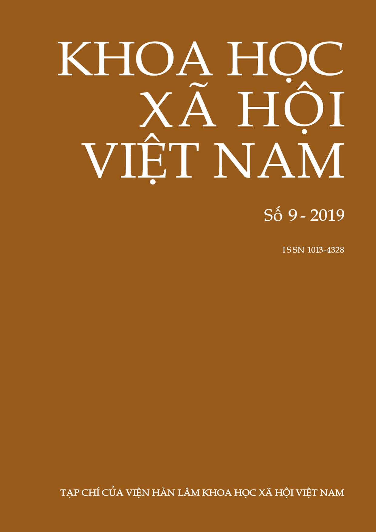 Khoa học xã hội Việt Nam. Số 9 - 2019