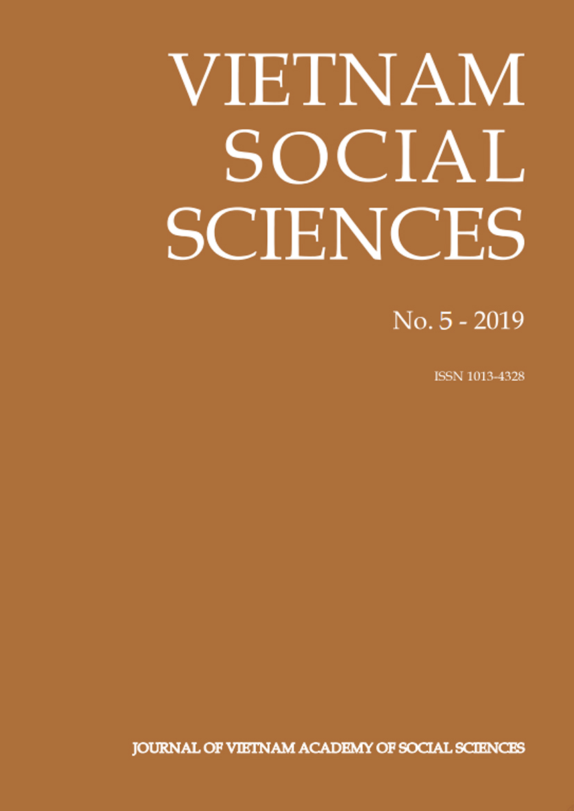 Vietnam Social Sciences. No. 5 - 2019