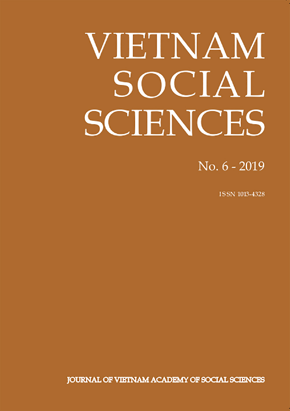 Vietnam Social Sciences. No. 6 - 2019