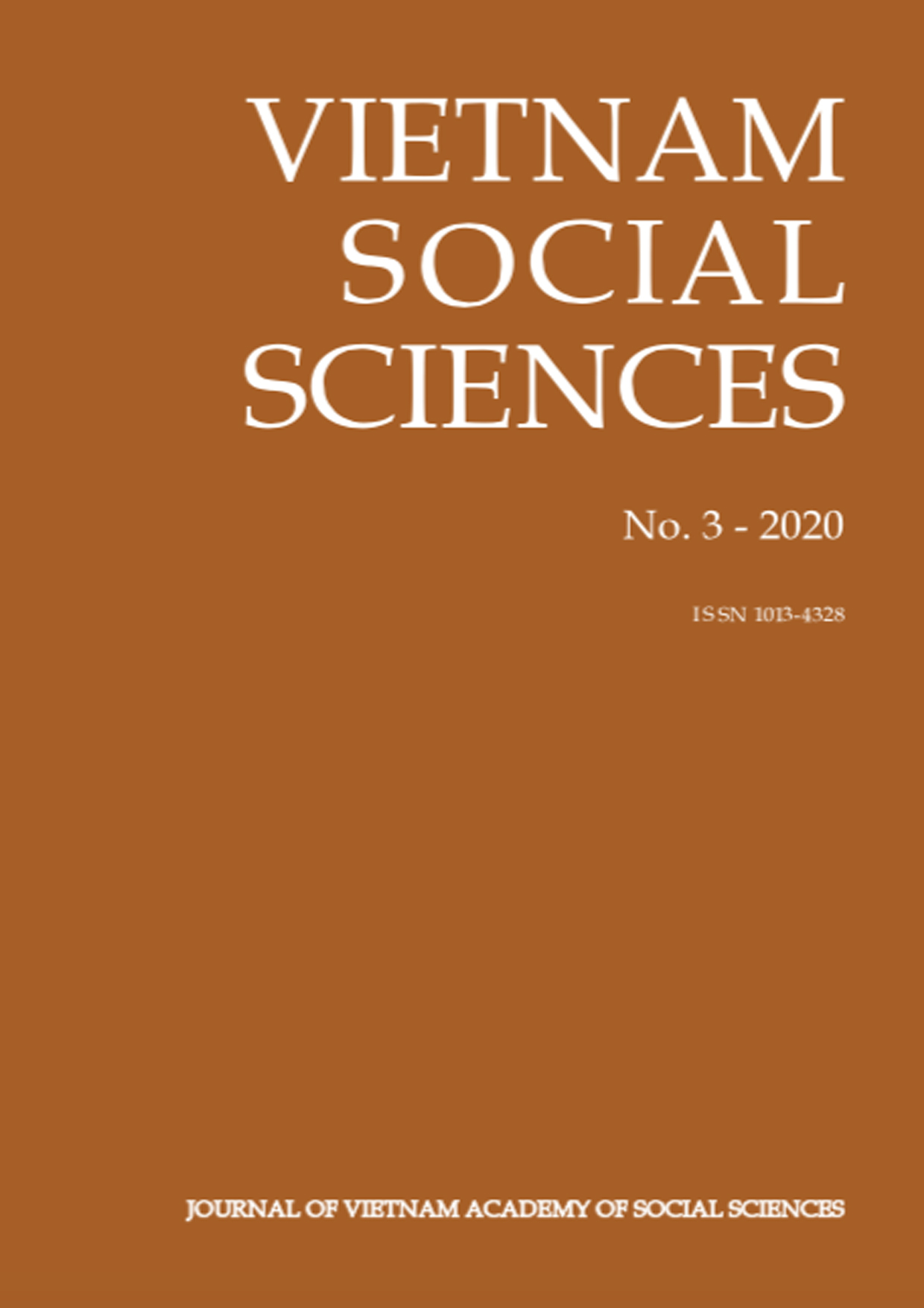 Vietnam Social Sciences. No. 3 - 2020