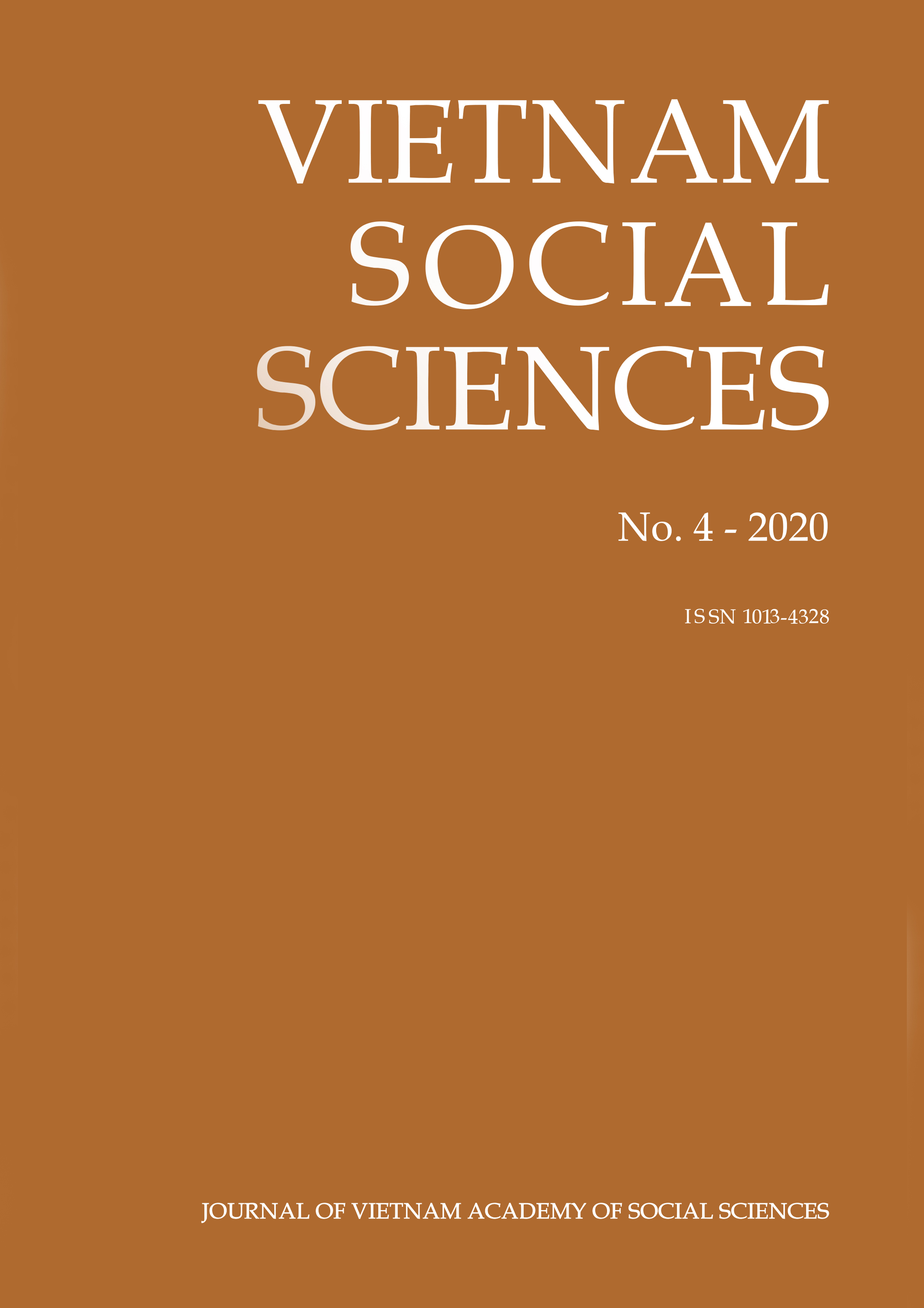 Vietnam Social Sciences. No. 4 - 2020