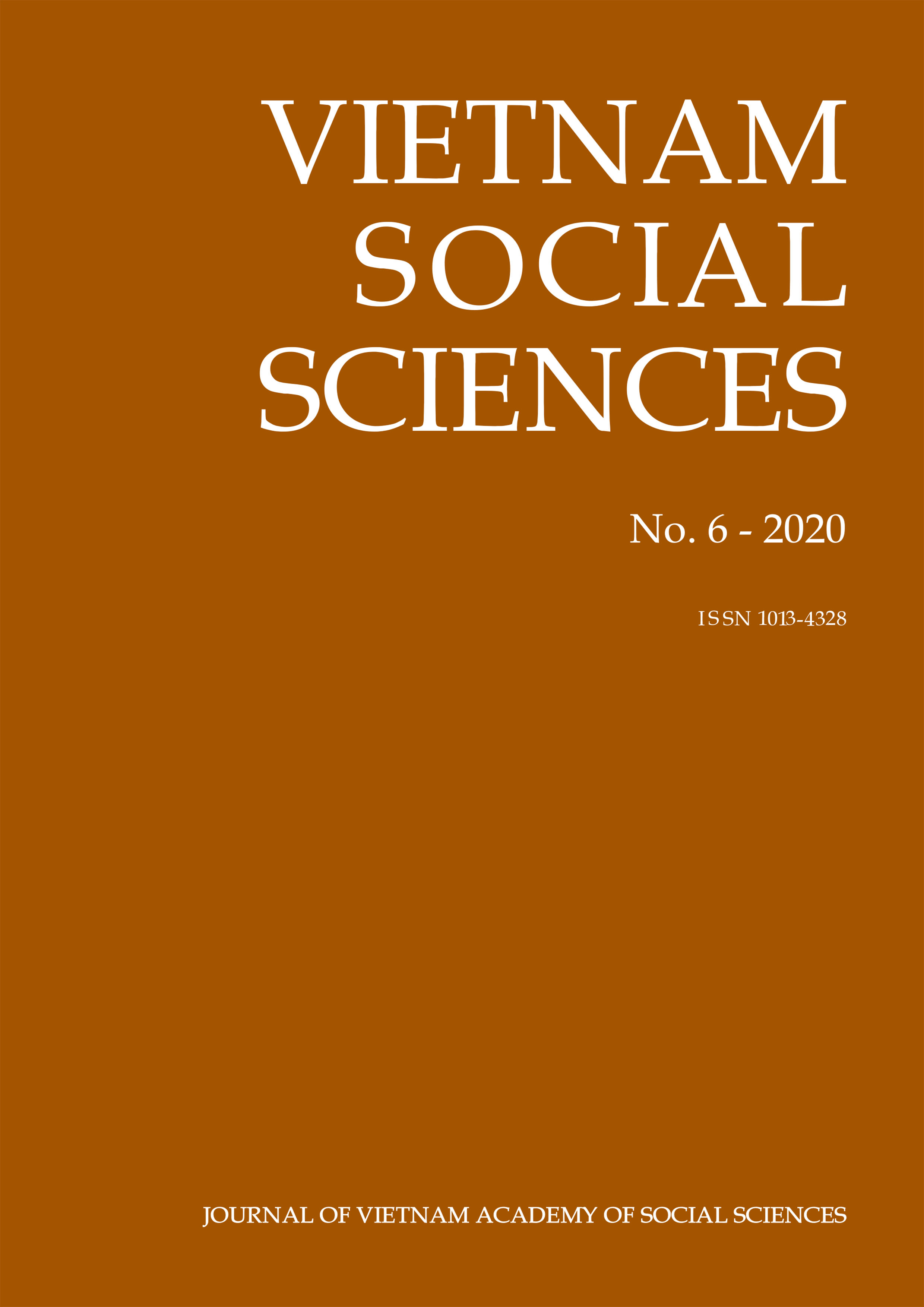 Vietnam Social Sciences. No. 6 - 2020