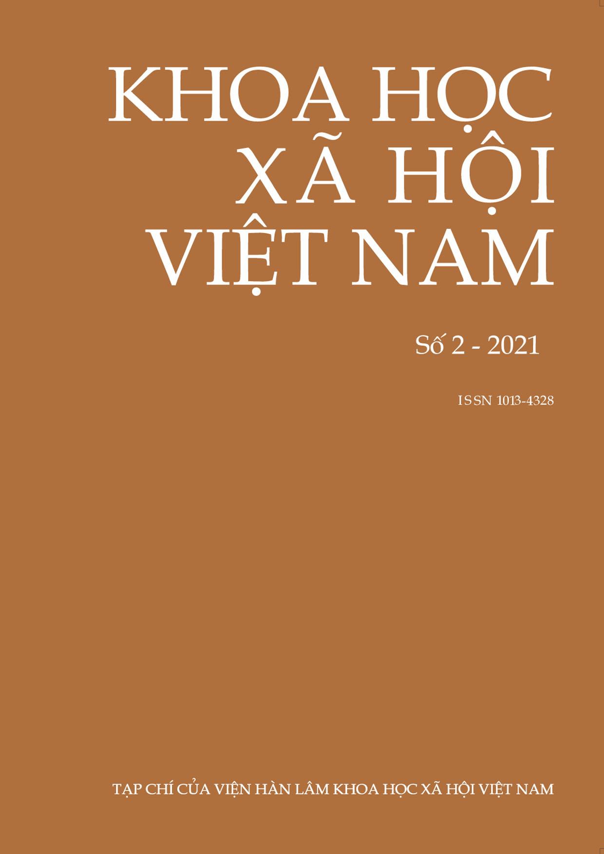 Khoa học xã hội Việt Nam. Số 2 - 2021