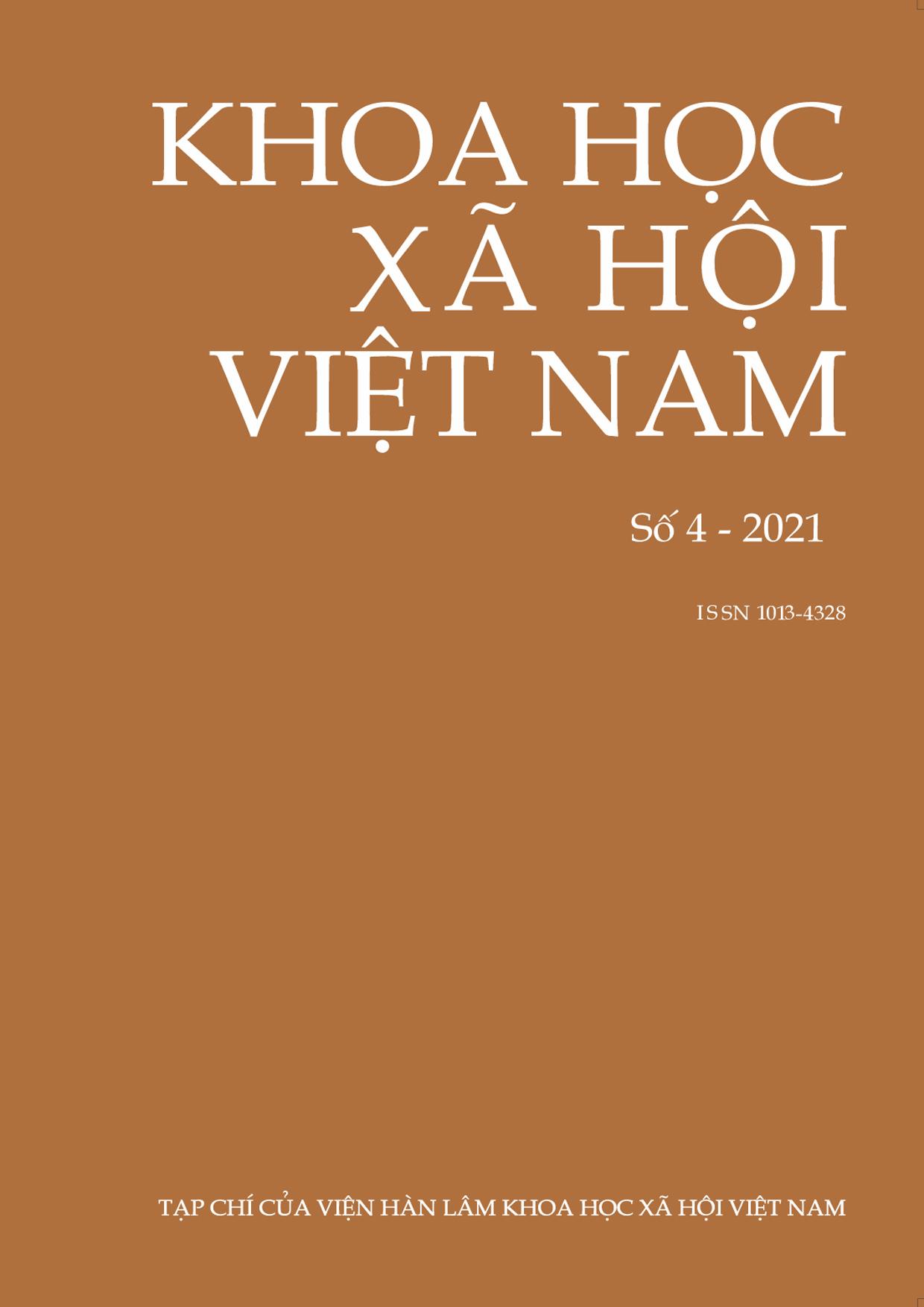 Khoa học xã hội Việt Nam. Số 4 - 2021